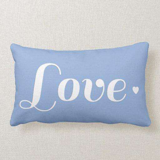Coração azul do amor do Cornflower Travesseiros De Decoração