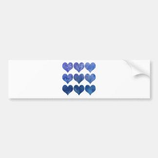 Coração azul do amor do Watercolour Adesivo Para Carro