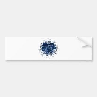 Coração azul do amor para o dia dos namorados adesivo para carro