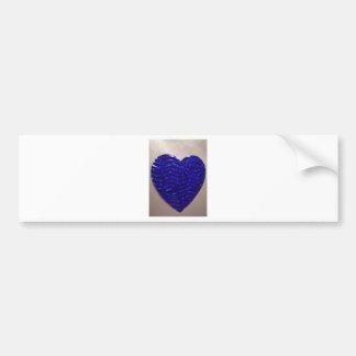 Coração azul grande do amor adesivo para carro