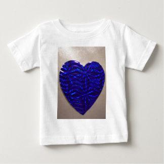 Coração azul grande do amor camiseta