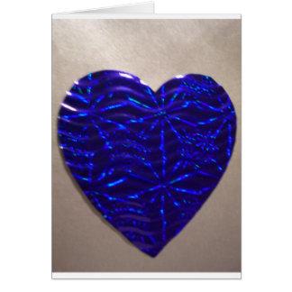 Coração azul grande do amor cartoes