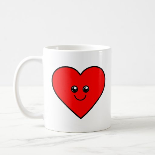 Coração bonito canecas