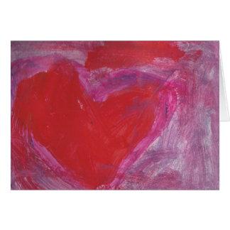 Coração bonito cartão comemorativo