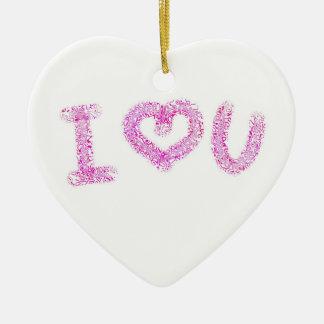 Coração bonito de I você ornamento do coração dos
