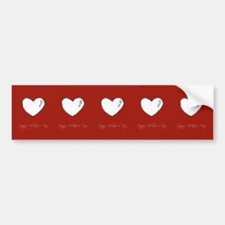 Coração bonito do feliz dia dos namorados adesivo para carro