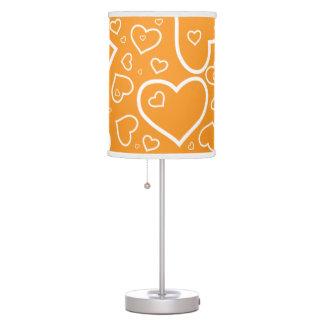 Coração bonito laranja modelada da lâmpada |