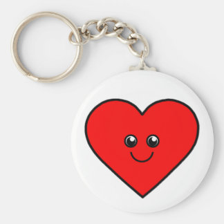 Coração bonito chaveiro