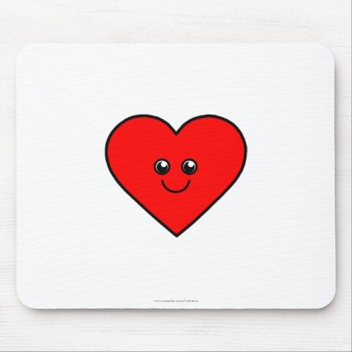 Coração bonito mouse pads