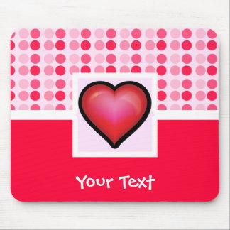 Coração bonito mouse pad