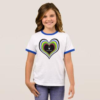 Coração brilhante Scotland da independência Camiseta Ringer