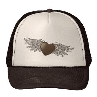 Coração com asas boné