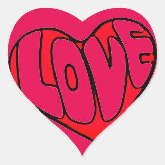 Coração com dia dos namorados do amor adesivo coração
