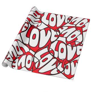 Coração com dia dos namorados do amor papel de presente