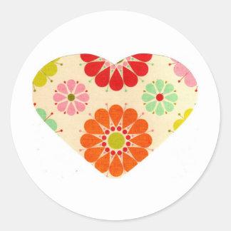 Coração com flores adesivo