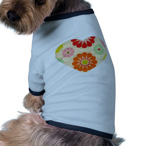Coração com flores roupas para pets