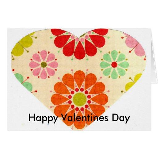 Coração com flores (cartão)