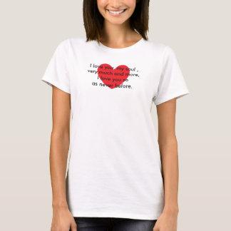 Coração com uma rima camisetas