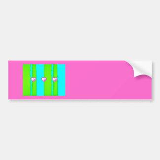 Coração cor-de-rosa adesivo para carro