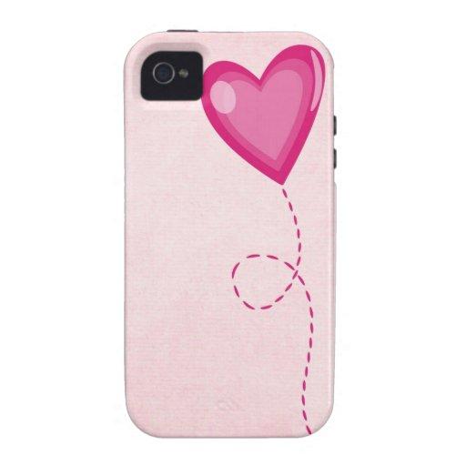 Coração cor-de-rosa