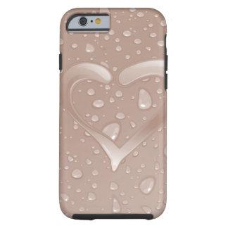 Coração cor-de-rosa capa para iPhone 6 tough