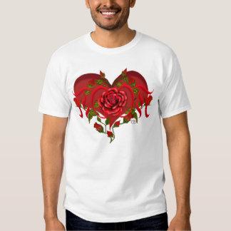 Coração cor-de-rosa da mamã t-shirts