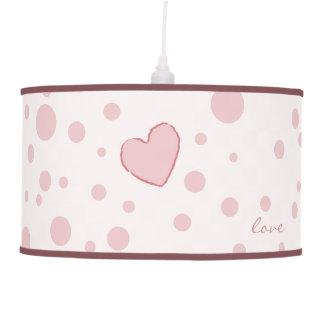 Coração cor-de-rosa das bolinhas