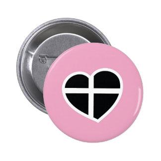 coração cor-de-rosa de Cornualha Boton