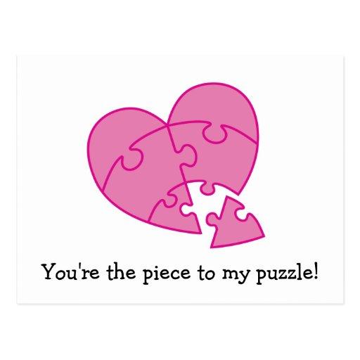 Coração cor-de-rosa do dia dos namorados cartões postais