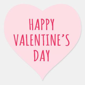 Coração cor-de-rosa do feliz dia dos namorados adesivos em forma de corações