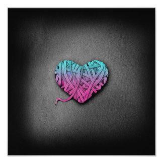 Coração cor-de-rosa e azul de Warrpaed Foto