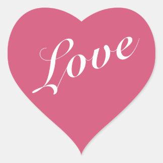 Coração cor-de-rosa etiquetas dadas forma do dia adesivos de corações