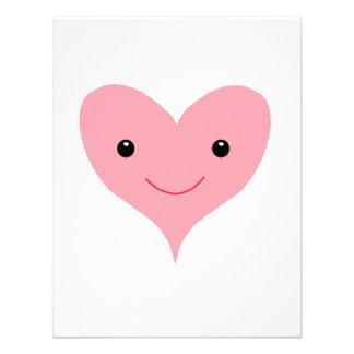 Coração cor-de-rosa feliz convite