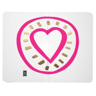 Coração cor-de-rosa moderno do dia dos namorados -