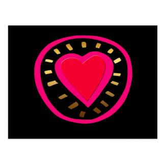 Coração cor-de-rosa moderno do dia dos namorados - cartão postal