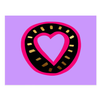 Coração cor-de-rosa moderno Postcard2 roxo do dia Cartão Postal