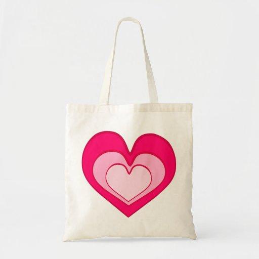 coração, coração cor-de-rosa bolsa