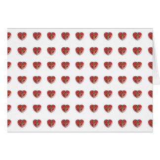 Coração cristão cartão