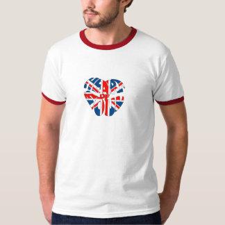 Coração da alma Union Jack Tshirt