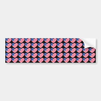 Coração da bandeira americana adesivo para carro