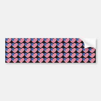Coração da bandeira americana adesivos