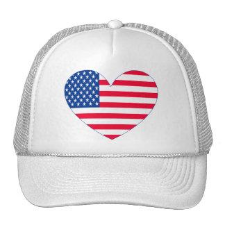 Coração da bandeira americana bone