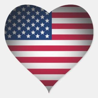 Coração da bandeira americana do OPUS Adesivos Em Forma De Corações