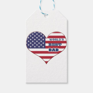 Coração da bandeira americana do pai do mundo o