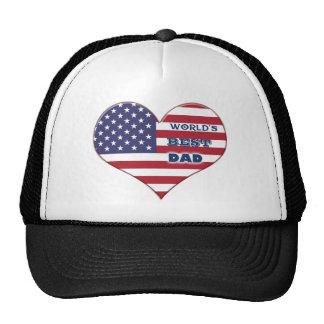 Coração da bandeira americana do pai do mundo o bones