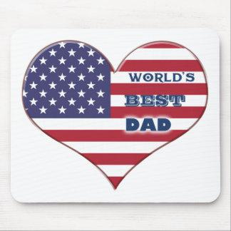 Coração da bandeira americana do pai do mundo o me