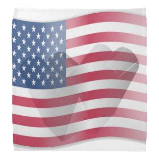 Coração da bandeira americana faixas para cabeça