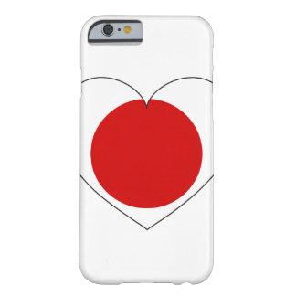 Coração da bandeira de Japão Capa Barely There Para iPhone 6