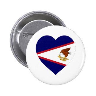 Coração da bandeira de Samoa Americanas Boton