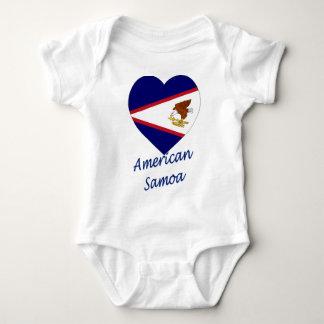 Coração da bandeira de Samoa Americanas T-shirt